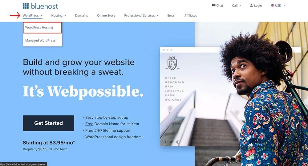WordPress 推薦虛擬主機 Bluehost