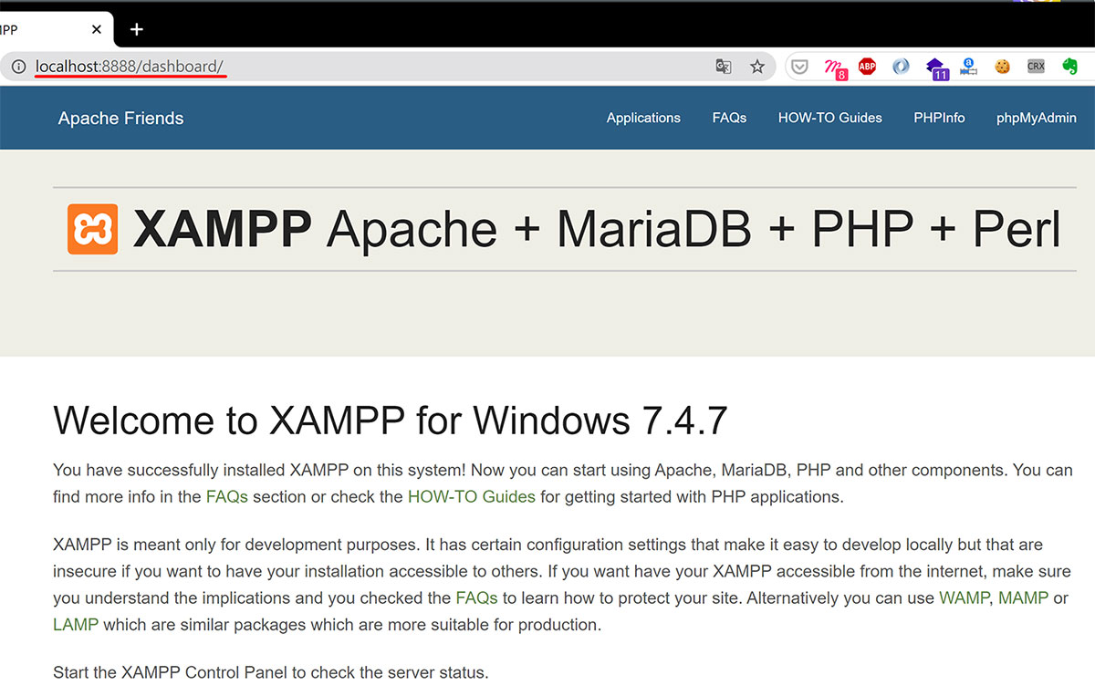 Localhost 本機架設 WordPress 使用 Xampp